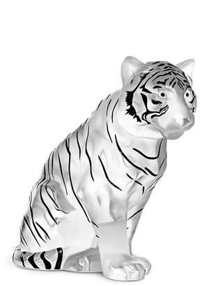 Lalique Sitting tiger large sculpture
