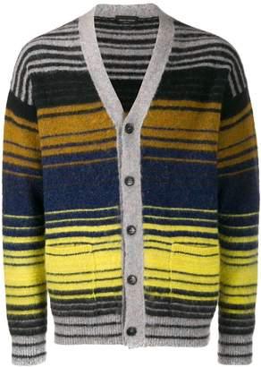 Roberto Collina striped V-neck cardigan