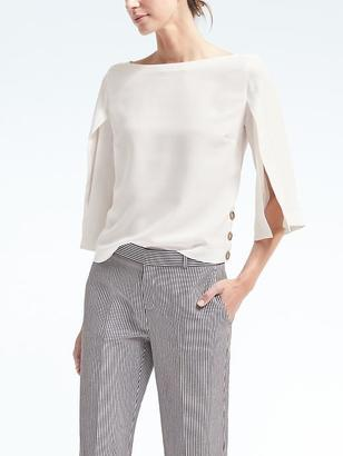 Split-Sleeve Top $98 thestylecure.com