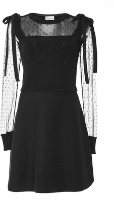 Red Valentino Point D'esprit-Paneled Dress $695 thestylecure.com