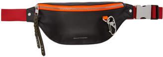 Alexander McQueen Black and Red Harness Belt Bag