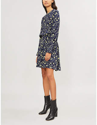 Zadig & Voltaire Floral-print gathered-waist crepe dress