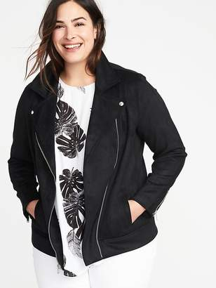 Old Navy Plus-Size Sueded-Knit Moto Jacket