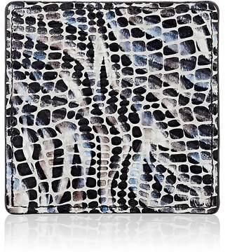 Barneys New York Mosaic-Embossed Leather Coaster