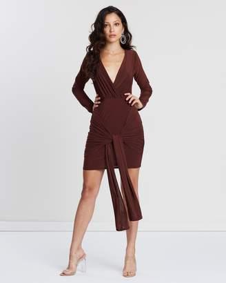 Missguided Slinky Drape Tie Mini Dress