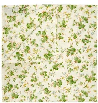 D'Ascoli Sophia Linen Cotton Napkin Set - Green Multi