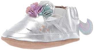Robeez Girls' Slip On Soft Soles Crib Shoe Uma Unicorn Metallic 18-24 Months