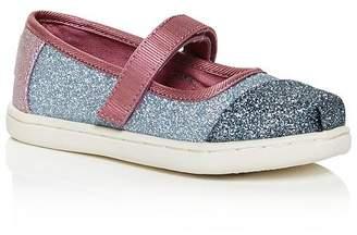 Toms Girls' Glitter Color-Block Mary Jane Flats - Baby, Walker, Toddler