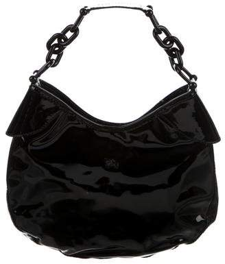 Burberry Patent Leather Hobo Bag
