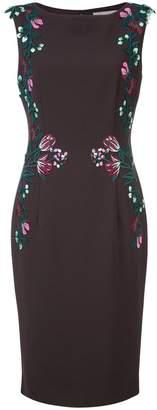 Lela Rose embroidered detail dress