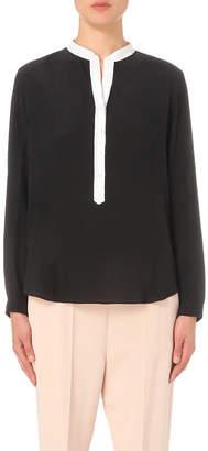 Stella McCartney Contrast-placket silk shirt