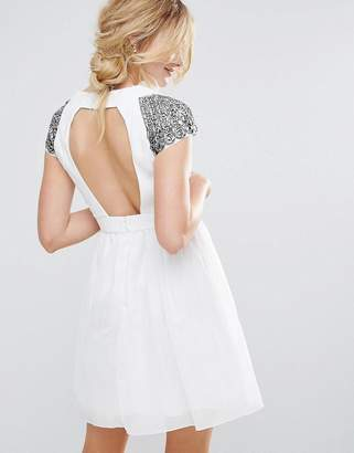 Little Mistress Exposed Back Embellished Prom Dress