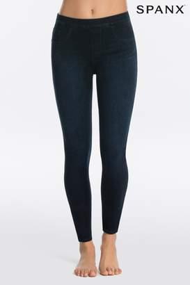 Spanx Womens Medium Control Jean Ish Twilight Rinse Jegging - Blue