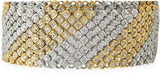 Neiman Marcus Diamonds 14k Two-Tone Multi-Row Diamond Bracelet, 8.0tcw