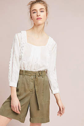 Anthropologie Belted Bermuda Shorts