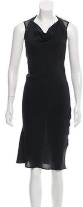 AllSaints Silk Semi-Sheer Dress