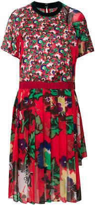 Sacai mixed florals dress