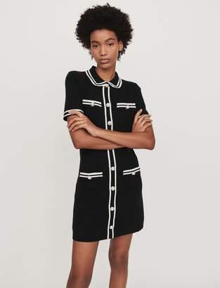 Maje Short dress with trim