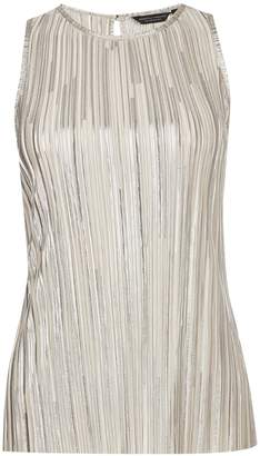 Dorothy Perkins Womens **Tall Cream Shimmer Halter Neck Top