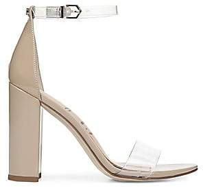 Sam Edelman Women's Yaro Vinyl& Leather Ankle Strap Heels