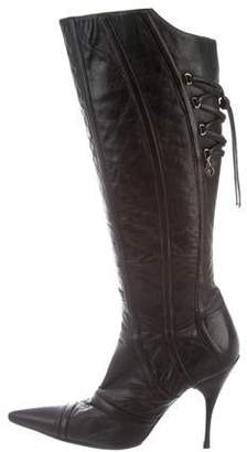 Cesare Paciotti Lace-Up Knee-High Boots