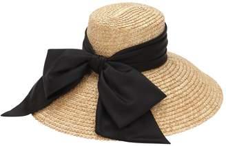 Eugenia Kim Straw Hat W/ Satin Bow
