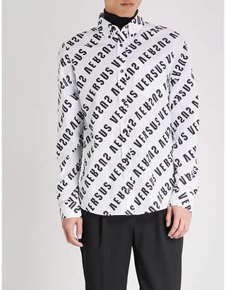 Versace Versus Logo-print regular-fit cotton shirt