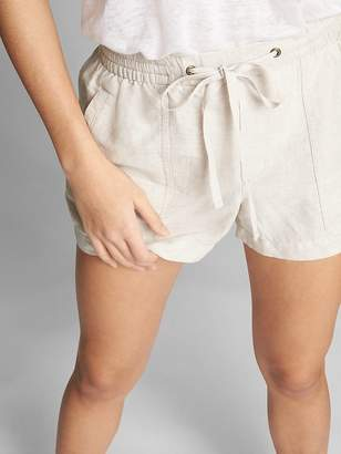 "Gap 3"" Drawstring Utility Shorts in Linen-Cotton"