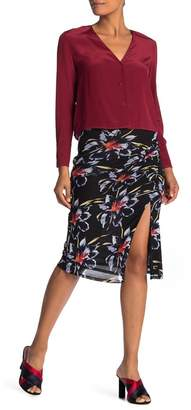 Diane von Furstenberg Dariella Side Cinched Knee-Length Skirt