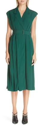Jason Wu Collection Belted Crepe Back Satin Midi Dress
