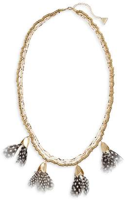 Serefina Dancing Feathers Statement Necklace