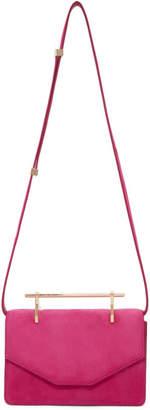 M2Malletier Pink Suede Indre Bag