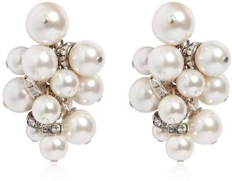 Lanvin Imitation Pearl Cluster Earrings