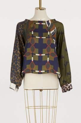 La Prestic Ouiston Mixed print sweatshirt