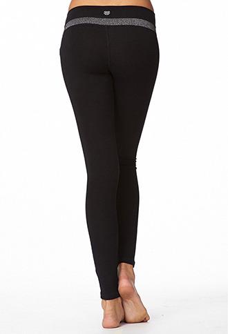 Forever 21 Metallic Skinny Yoga Leggings