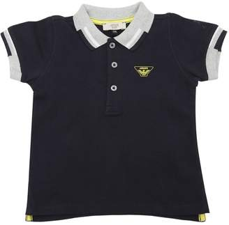 Armani Junior Cotton Piqué Polo Shirt