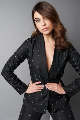 Na Kd Party Embellished Blazer Black