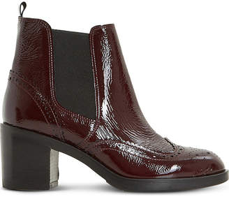 Dune Black Ladies Burgundy Classic Parke Leather Heeled Chelsea Boots
