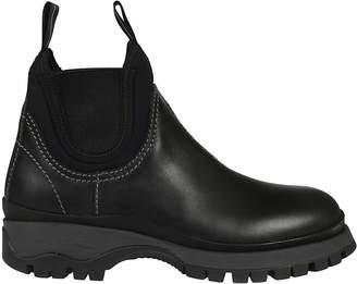 Prada Elasticated Paneled Boots