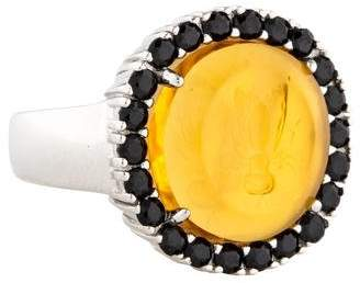 Tagliamonte Amber & Spinel Venetian Intaglio Cocktail Ring
