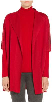 St. John Milano Knit Short Sleeve Cardigan