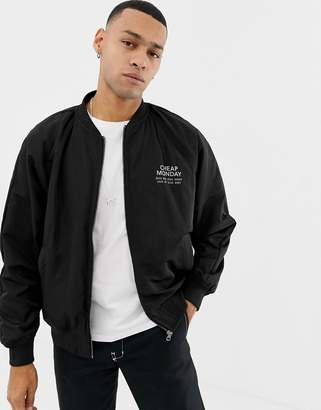 Cheap Monday Bomber Jacket In Black With Logo