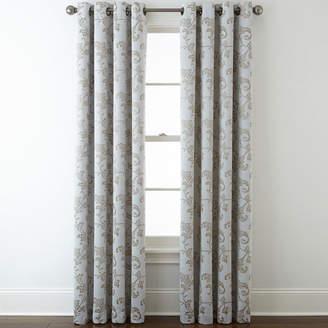 Home ExpressionsTM Glendale Leaf Grommet-Top Blackout Curtain Panel
