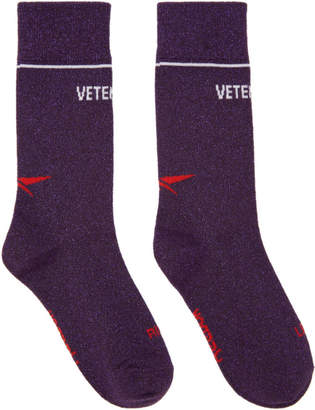Vetements Purple Reebok Edition Lurex Socks