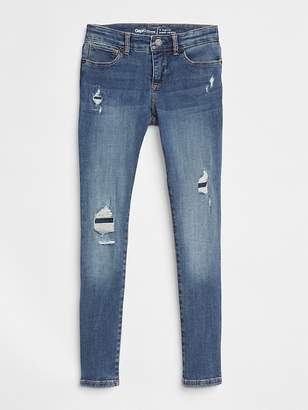 Gap Superdenim Super Skinny Jeans in Destruction with Fantastiflex