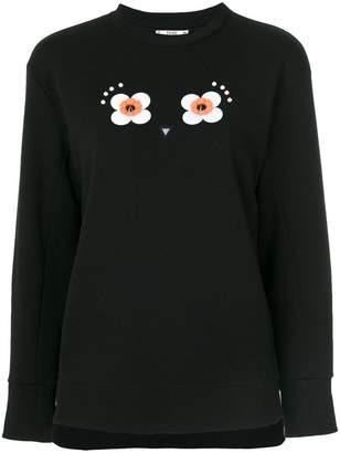 Fendi floral embroidered sweatshirt