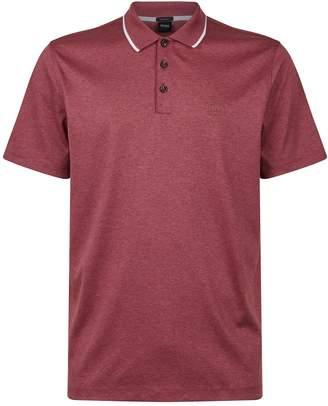 BOSS Cotton Stripe Detail Polo Shirt