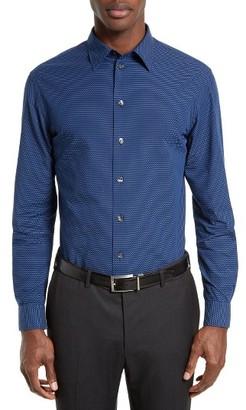 Men's Armani Collezioni Trim Fit Micro Pattern Sport Shirt $275 thestylecure.com