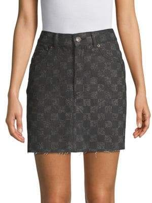Marc Jacobs High-Waisted Cotton Mini Skirt