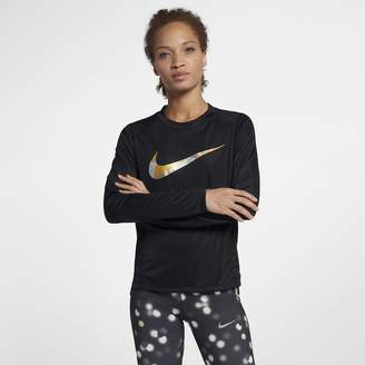 Nike Miler Women's Long-Sleeve Metallic Running Top